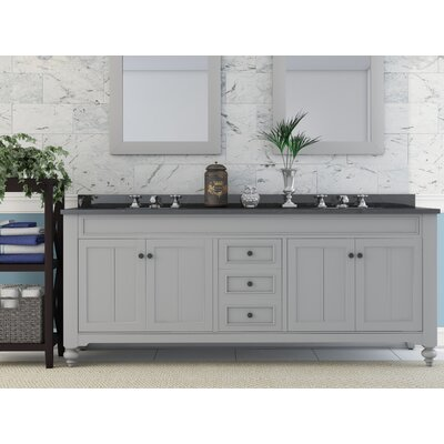 Cabery 72 Double Sink Bathroom Vanity Set with Faucets