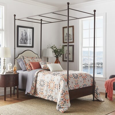 Rockledge Upholstered Canopy Bed Size: King