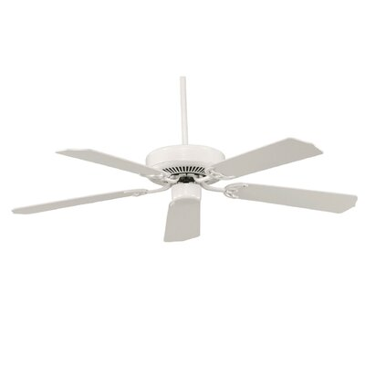 52 Anawan 5-Blade Ceiling Fan Finish: White with White Blades