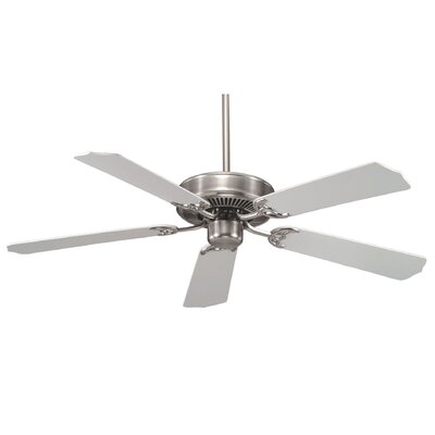 52 Anawan 5-Blade Ceiling Fan Finish: Satin Nickel with White Blades