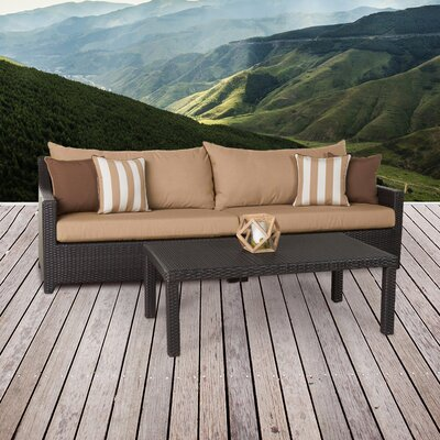 Northridge 2 Piece Deep Seating Group with Cushion Fabric: Maxim Beige