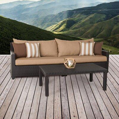 Northridge 2 Piece Deep Seating Group with Cushion Fabric: Maxim Beige