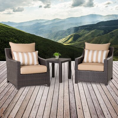 Northridge 3 Piece Deep Seating Group with Cushion Fabric: Maxim Beige