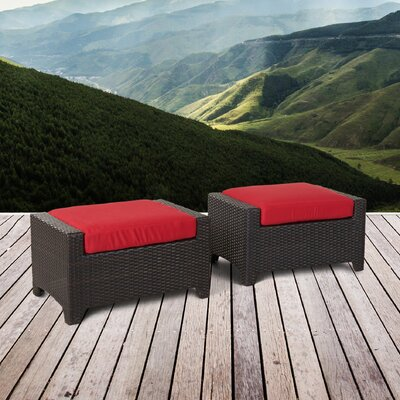 Northridge Ottoman with Cushion Fabric: Sunset Red