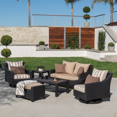 Northridge 6 Piece Deep Seating Group Fabric: Maxim Beige