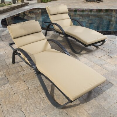 Northridge Chaise Lounge with Cushion Fabric: Heather Beige