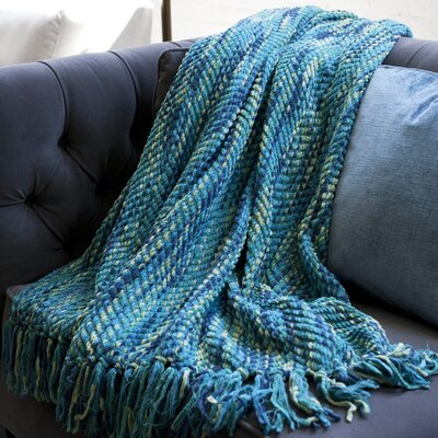 Bella Throw Blanket Color: Ocean