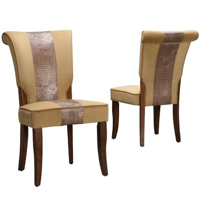 Stephentown Side Chair Upholstery: Peat with Faux Alligator Print