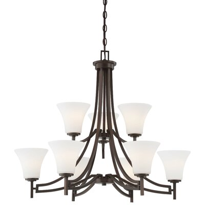 Parthena 9-Light Shaded Chandelier
