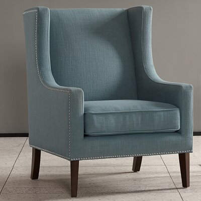 Agnes Wingback Chair Upholstery: Slate Blue
