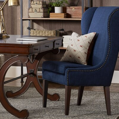 Andover Wingback Chair Upholstery: Navy