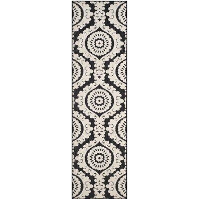 Deweese Black/Beige Outdoor Area Rug Rug Size: 4 x 6