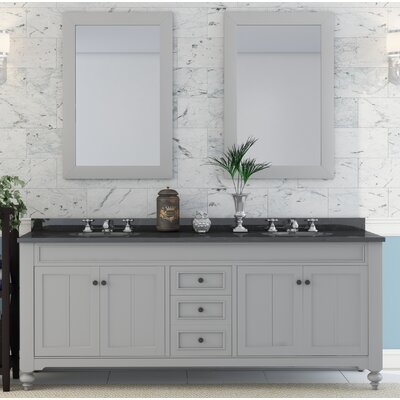 Cabery 72 Double Sink Bathroom Vanity Set with 2 Mirrors and Faucets
