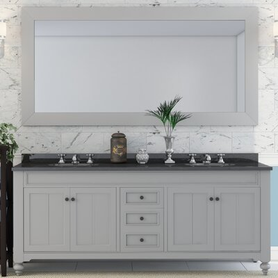 Cabery 72 Double Sink Bathroom Vanity Set with Mirror and Faucets