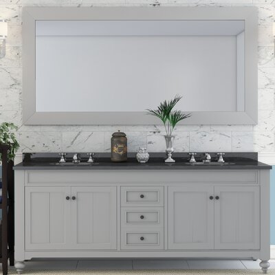 Cabery 72 Double Sink Bathroom Vanity with Mirror