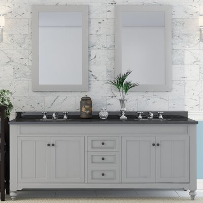 Latimer 72 Double Sink Bathroom Vanity Set with 2 Mirrors