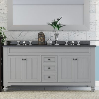 Cabery 60 Double Bathroom Vanity Set with Faucets