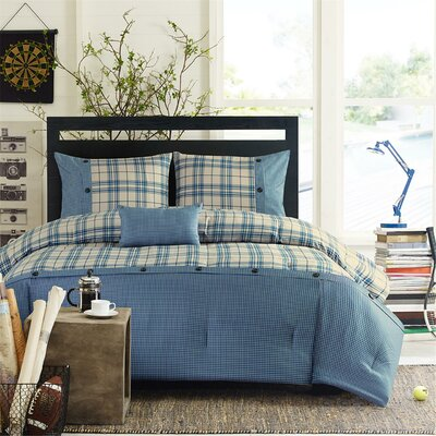 Sand Lake Comforter Set Size: King / California King, Color: Blue