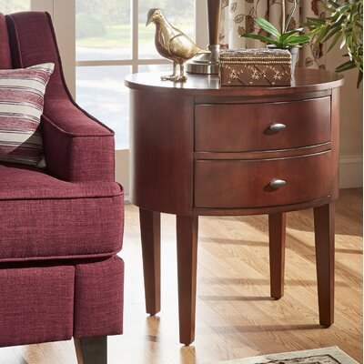 Canterbury 2 Drawer End Table Finish: Espresso