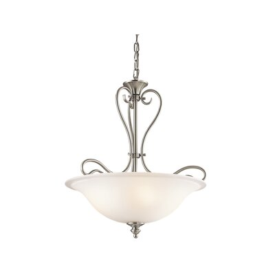 Hertzler 3-Light Bowl Pendant Finish: Brushed Nickel