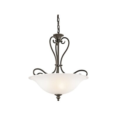 Haynes 3-Light LED Bowl Pendant Finish: Olde Bronze