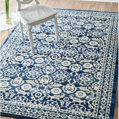 Plumville Dark Blue Area Rug Rug Size: Rectangle 9 x 12