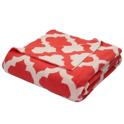 Windermere Cotton Throw Color: Red / Ivory