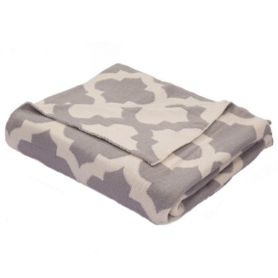 Windermere Cotton Throw Color: Grey / Ivory