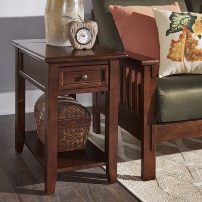 Ellicott End Table With Storage� Color: Meadow Green