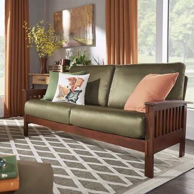 Winnifred Mission Sofa Upholstery: Olive