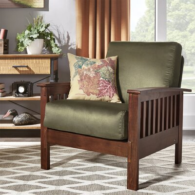 Winnifred Mission Arm Chair Upholstery: Olive