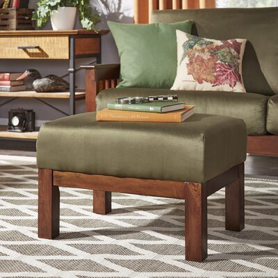 Winnifred Mission Ottoman Upholstery: Olive