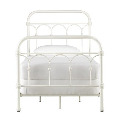 Copake Panel Bed Color: Antique White, Size: King
