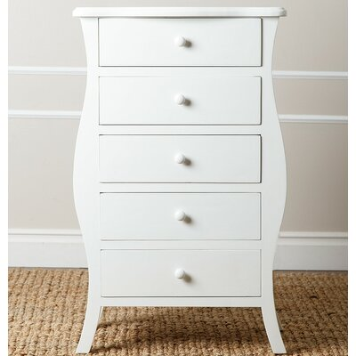 Worth 5 Drawer Chest Color: White