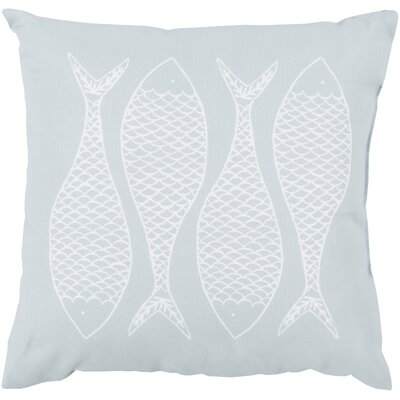 Larson Fabulous Fish Outdoor Throw Pillow Color: Sky Blue, Size: 18 H x 18 W x 4 D