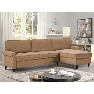 Miltown Brick And Barrel Reversible Sectional Upholstery: Dove