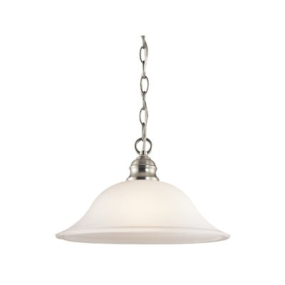 Hertzler 1-Light Inverted Pendant Finish: Brushed Nickel