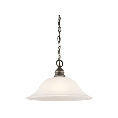 Hertzler 1-Light Inverted Pendant Finish: Olde Bronze