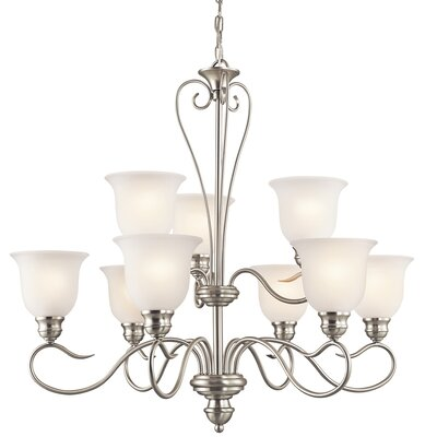 Haynes 9-Light Shaded Chandelier Finish: Brushed Nickel