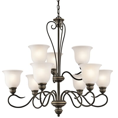 Haynes 9-Light Shaded Chandelier Finish: Olde Bronze