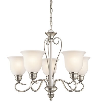 Hertzler 5-Light Shaded Chandelier Finish: Brushed Nickel