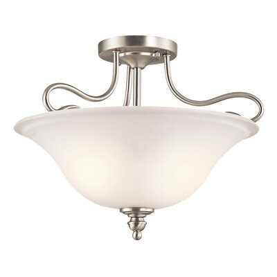 Hertzler 2-Light Semi Flush Mount Finish: Brushed Nickel