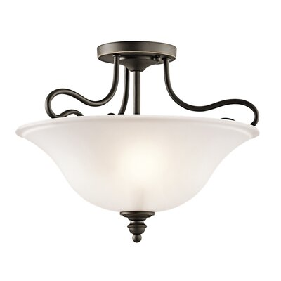 Hertzler 2-Light Semi Flush Mount Finish: Olde Bronze
