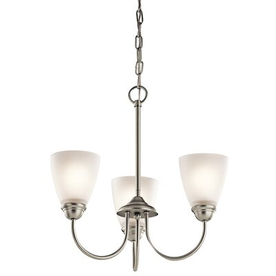 Graybeal 3-Light LED Shaded Chandelier Finish: Brushed Nickel