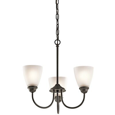 Graybeal 3-Light LED Shaded Chandelier Finish: Olde Bronze