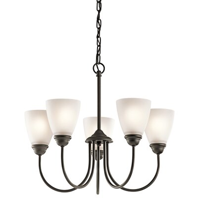 Halsey 5-Light LED Shaded Chandelier Finish: Olde Bronze