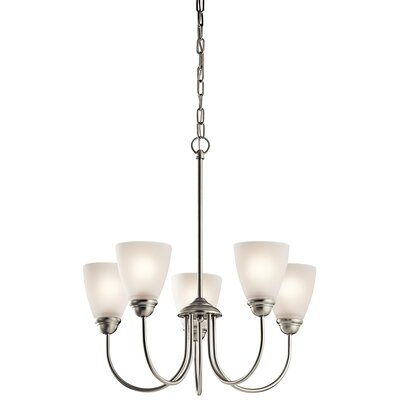 Halsey 5-Light LED Shaded Chandelier Finish: Brushed Nickel