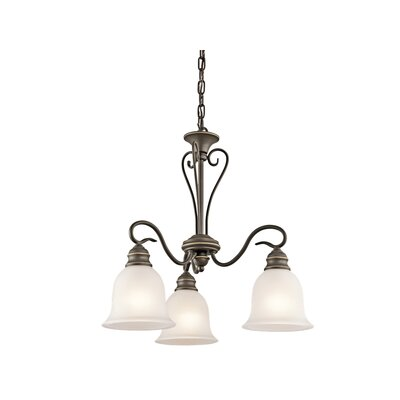 Hertzler 3-Light Shaded Chandelier Finish: Olde Bronze