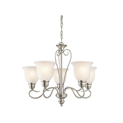 Haynes 5-Light LED Shaded Chandelier Finish: Brushed Nickel