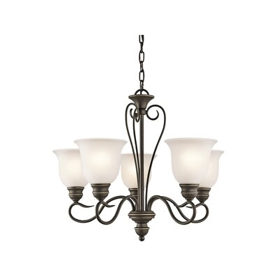 Hertzler 5-Light Shaded Chandelier Finish: Olde Bronze